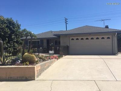 Ventura Single Family Home For Sale: 5660 Hunter Street