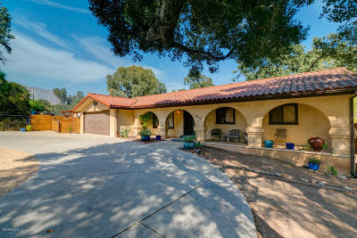Ojai Single Family Home Active Under Contract: 518 S Ventura Street