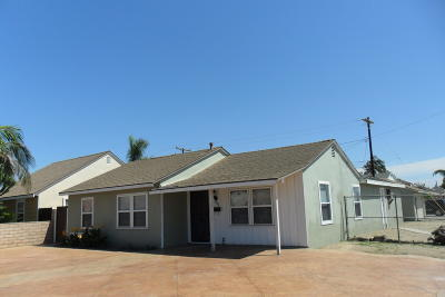 Oxnard Single Family Home For Sale: 1852 Valley Park Drive