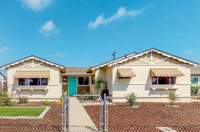 Oxnard Single Family Home Active Under Contract: 3042 Kern Street