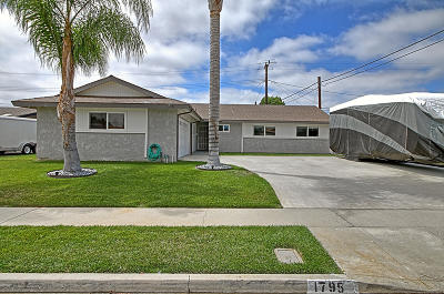 Camarillo Single Family Home Active Under Contract: 1795 Loma Drive
