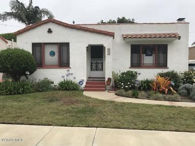 Ventura Single Family Home For Sale: 454 Coronado Street