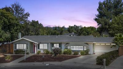 Ojai CA Single Family Home For Sale: $669,500