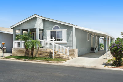 Oxnard Mobile Home Active Under Contract: 122 Big Bear Way #201