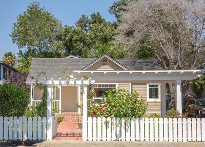 Santa Barbara Condo/Townhouse For Sale: 1624 San Andres Street