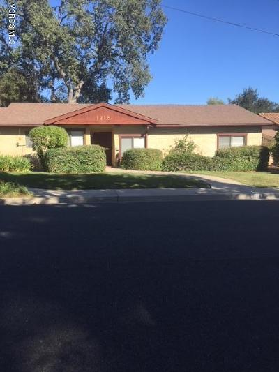 Ojai Single Family Home For Sale: 1218 Daly Road