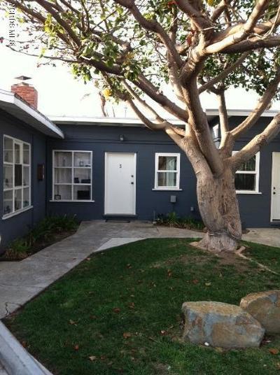 Ventura County Rental For Rent: 2272 Pierpont Boulevard #4