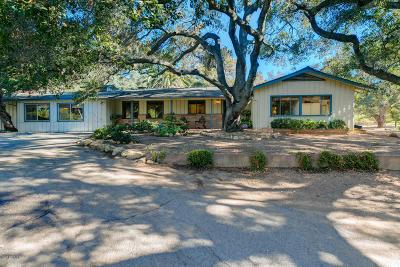 Ojai Single Family Home For Sale: 229 E Villanova Road