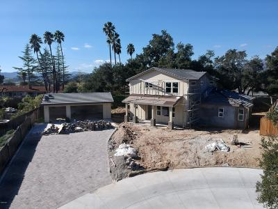 Ojai Single Family Home For Sale: 11583 Oakcrest Avenue