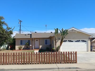 Oxnard Single Family Home For Sale: 4430 S B Street