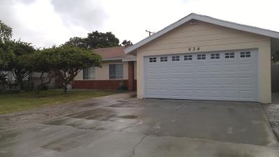 Oxnard Single Family Home For Sale: 934 Rialto Street