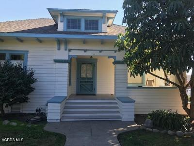 Ventura Single Family Home For Sale: 1106 E Santa Clara Street