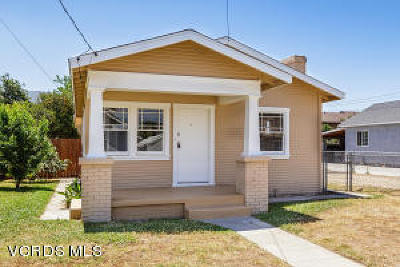 Santa Paula Single Family Home Active Under Contract: 300 E Ventura Street