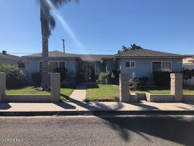 Oxnard Single Family Home For Sale: 1114 W Guava Street