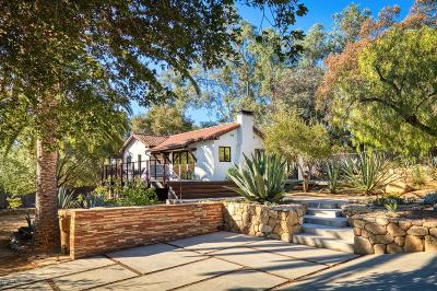Ojai Single Family Home For Sale: 507 W Aliso Street