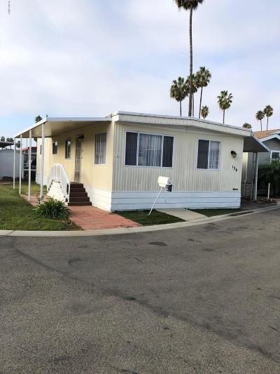 Oxnard Mobile Home Active Under Contract: 205 E Driffill Boulevard #136