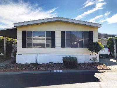 Fillmore Mobile Home For Sale: 250 E Telegraph Road #210