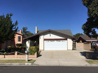 Oxnard Single Family Home Active Under Contract: 1211 Kipling Place