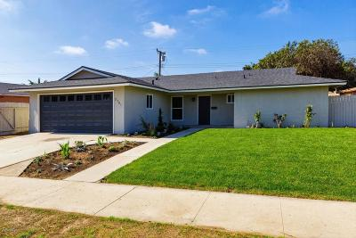 Oxnard Single Family Home For Sale: 2701 Tulare Place