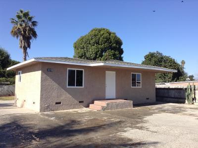 Oxnard Single Family Home For Sale: 3619 Orange Drive