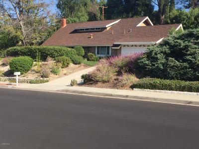 Thousand Oaks Single Family Home For Sale: 2129 Montrose Drive