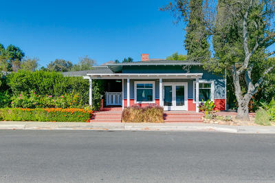 Ojai Single Family Home For Sale: 102 W Matilija Street