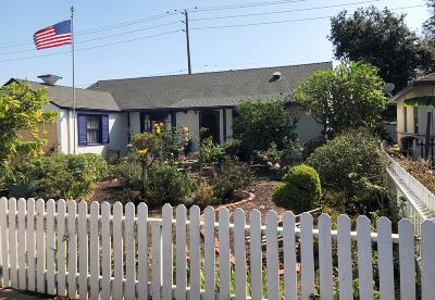 Ventura Single Family Home For Sale: 2862 Channel Drive