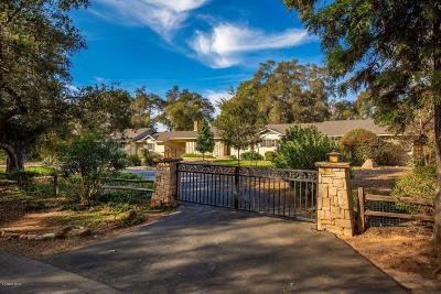 Ojai Single Family Home For Sale: 802 El Toro Road