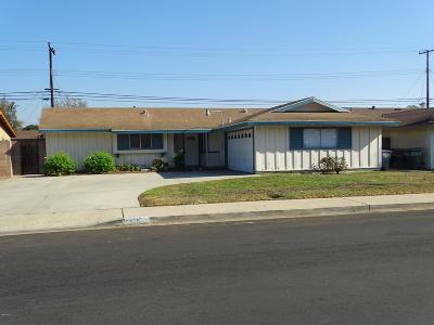 Oxnard Single Family Home Active Under Contract: 2026 Snow Avenue