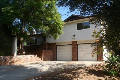 Single Family Home For Sale: 940 El Centro Street