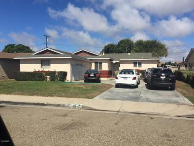 Oxnard Single Family Home For Sale: 625 W Hemlock Street