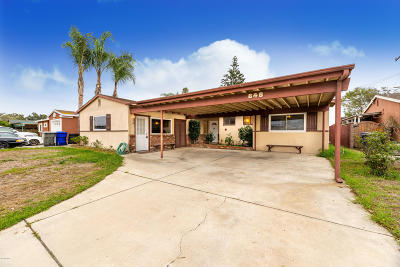 Port Hueneme Single Family Home For Sale: 646 Bard Road