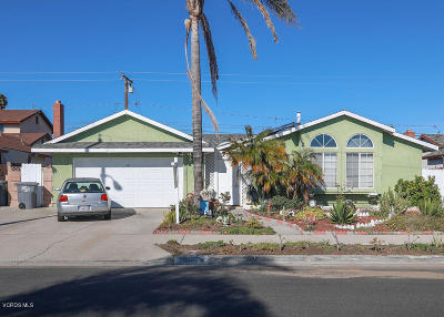 Oxnard Single Family Home For Sale: 1001 W Olive Street