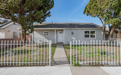Oxnard Single Family Home For Sale: 1255 S M Street