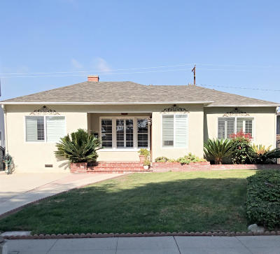 Oxnard Single Family Home Active Under Contract: 627 Deodar Avenue