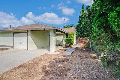 Santa Paula Single Family Home For Sale: 525 W Santa Barbara Street