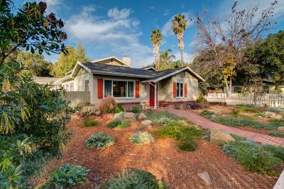 Ojai Single Family Home For Sale: 181 Encinal Avenue