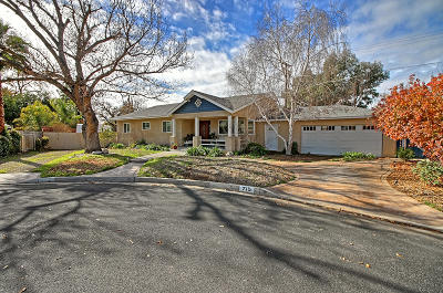 Ojai Single Family Home Active Under Contract: 715 Sunset Place