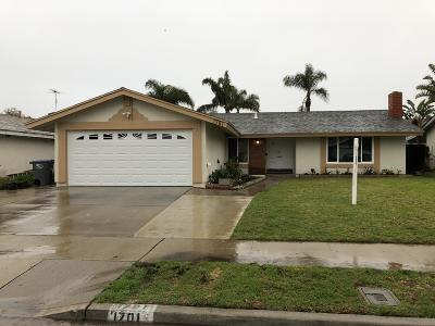 Oxnard Single Family Home For Sale: 1701 Joliet Place