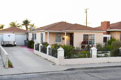 Oxnard Single Family Home For Sale: 1419 S E Street