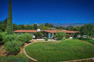 Ojai Single Family Home For Sale: 2065 Los Encinos Road