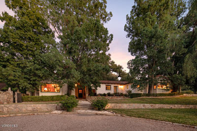 Ojai Single Family Home Active Under Contract: 4403 Thacher Road