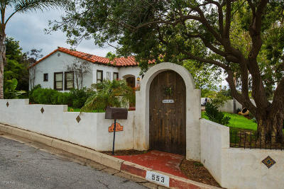 Santa Paula Single Family Home Active Under Contract: 553 Mill Street