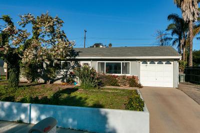 Ventura Single Family Home Active Under Contract: 2906 Sioux Avenue