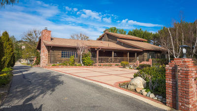Agoura Hills Single Family Home Active Under Contract: 28427 Driver Avenue