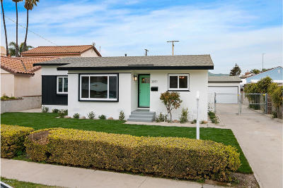 Ventura Single Family Home For Sale: 3091 Channel Drive