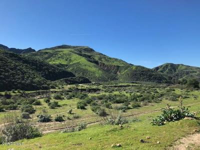 Ventura County Residential Lots & Land For Sale: 00 Holser Canyon