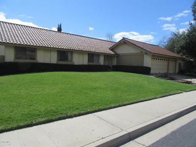 Ojai Single Family Home For Sale: 1117 Del Prado Court