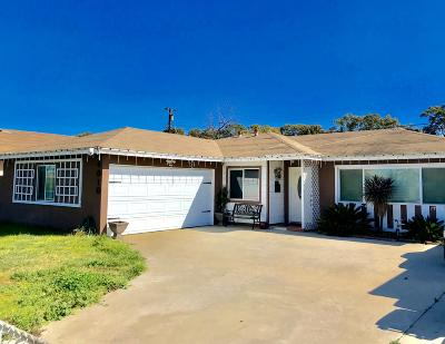 Oxnard Single Family Home For Sale: 4010 S J Street