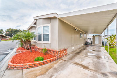 Oxnard Mobile Home Active Under Contract: 3752 Orange Grove Avenue #57